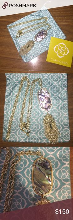 Kendra Scott Rayne Kendra Scott Rayne in abalone. Will come with dust bag. No trades. Kendra Scott Jewelry Necklaces