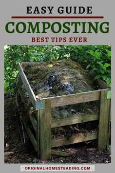 Do you need a easy steps on how to start composting.then you must grab this easy-to-read guide to composting! Find the easy steps to build your own compost pile. Find these DIY steps on composting Wooden Compost Bin, Compost Tea, Garden Compost, How To Start Composting, Composting At Home, Lawn And Garden, Indoor Garden, Garden Beds, Easy Garden