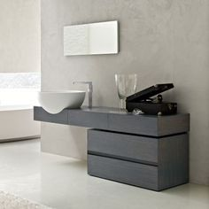 TOSCOQUATTRO Bathroom Cost, Modern Bathroom, My Home Design, House Design, Wash Basin Counter, Basin Cabinet, Basin Design, Vanity Units, Amazing Bathrooms