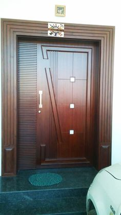 New Main Door Entrance Front Entry Simple Ideas Wooden Main Door Design, Room Door Design, Door Design Interior, Modern Entrance Door, Entrance Doors, Modern Door, Exterior Doors With Glass, Wooden Doors, Front Entry