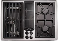 36 inch gas cooktop with grill - Google Search