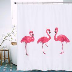 Flamingo Shower Curtains 2016 Hot Sale European Style Waterproof Bath Curtain Polyester Fabric Bathroom Shower Curtain 72X78inch