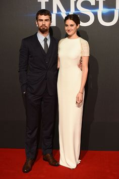 Shailene Woodley and Theo James at the 'Insurgent' London Premiere