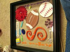 Shadow box of memories and fav things of our daughter teacher:) end of the year gift for teacher