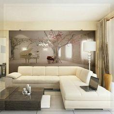 Beautiful Metallic Silver Living Room Wallpaper | Home Decor ...