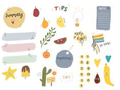 Doodle Drawings, Cute Drawings, Doodle Art, Cute Notes, Good Notes, Journal Stickers, Planner Stickers, Memo Notepad, Note Doodles