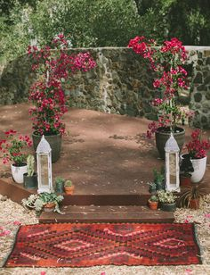 bougainvillea arbor | boho bohemian eclectic handmade ranch wedding | ceremony backdrop
