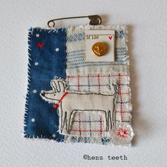 hens teeth : fiber textile brooch pin :: best friend -- She is one of my absolute favorite textile artists! Textile Jewelry, Fabric Jewelry, Jewellery, Embroidery Art, Embroidery Stitches, Sewing Crafts, Sewing Projects, Fabric Brooch, Recycled Sweaters