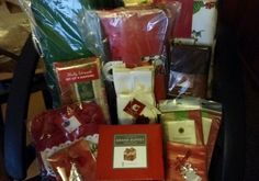 Christmas Holiday Decor Mixed Lot Ornaments Napkins Table Runners Accent Rugs