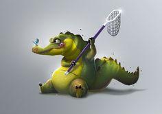 Crocodrile, Samuel Suarez on ArtStation at https://www.artstation.com/artwork/1XKnZ