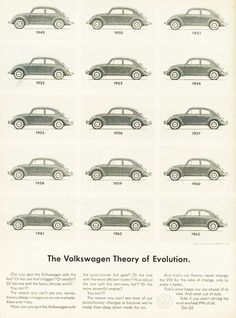 23 Remarkable Volkswagen Ads of the by New York's Doyle Dane Bernbach Classic Car Sales, Buy Classic Cars, Volkswagen Karmann Ghia, Volkswagen Beetles, Theory Of Evolution, Alfa Romeo Cars, Thing 1, Bmw Series, Transportation Design