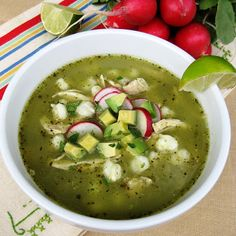 JULES FOOD...: CHICKEN POZOLE VERDE