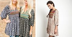 This Darling Tunic Dress is sure to be your favorite with its beautiful, yet vibrant deatiled print. Super cute worn with leggings, jeans or styled on its own with wedges or boots. You simply can't go wrong with this Darling Tunic. You will defianlty fall in love with all of the super cute detail on the front and back. Perfect for all occasions and fits relaxed but its cut super falttering! You won't want to miss this one!Colors AvailableTaupe, Navy, GreenSizes Available%0ASmall…