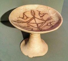 SPAIN / IBERIA (Archaeo..) IBERIA. (Pre-Roman Spain) - Copa o frutero de cerámica. Cultura Celtíbera. Necrópolis de Numantia. S. II a. C.