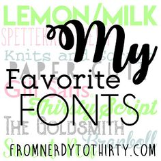 A Font Nerd's Favorite Fonts   I have long had an interest in fonts and typography. When I was a kid Iwould examine the letterpress type blocks in my mom's printer's box displayed on the wall. My mom did keyline paste-up and I enjoyed playing around with Print Shop on our Commodore 64. Working at the college newspaper I began to develop an appreciation for the use of different typefaces the use of good kerning and design. Nowadays you can easily access tens of thousands of fonts on sites…