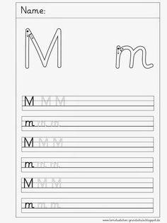 wir beschäftigen uns in dieser Woche mit dem M - m (das L- l kommt später) und die Schreibblätter habe ich erstellt LG Gille Sc...