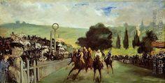Edouard Manet : Racetrack near Paris