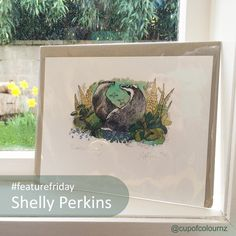 Welcome to #featurefriday! Where I will be semi-regularly sharing artists and artisans who's work I admire.  I first saw Shelly Perkins' work at the Art in Action festival in 2014 where I purchased this beautiful gilcée print from her.  To see more of her illustration work visit her website: www.shellyperkins.co.uk