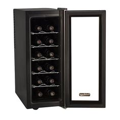 Koldfront 12 Bottle Stainless Steel Slim-Fit Wine Cooler Secondary Image