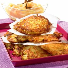 Kartoffelpuffer mit Apfelmus Rezept | Weight Watchers