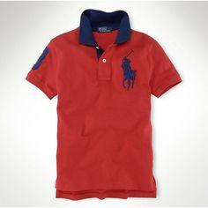 Ralph Lauren Men Navy Big Pony Polo Red  http://www.ralph-laurenoutlet.com/