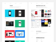 New Portfolio Subpages by Ales Nesetril #Design Popular #Dribbble #shots