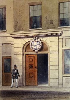 The Entrance to Tallow Chandler's Hall, 19th (w/c on paper) Wall Art & Canvas Prints by Thomas Hosmer Shepherd