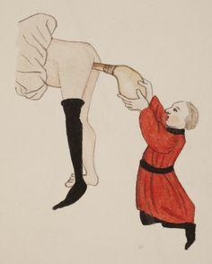 Against gout. De arte phisicale et de chirurgia, (England, ca. 1412 ). Author: ARDERNE, John of (1307- end of 14th century). Lavemang.