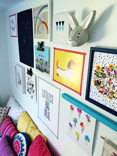 Amazing Gallery Wall for a Kids Bedroom!