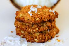 Oatmeal Coconut Cookies Recipe | Eggless Cooking