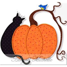 Country Halloween Applique - 3 Sizes!