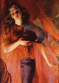 'Le Quattro Stagioni in Rosso - Autunno', Giacomo Balla, 1940.