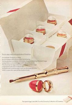 Givenchy Cosmetics Lipstick Egg Crate (1966)
