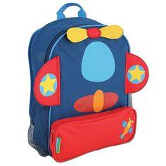Stephen Joseph Personalized Kids Backpacks--AIRPLANE SIDEKICK BACKPACK--can be personalized--#4307