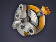 A mechanical visualization of a scroll chuck. It's and I still really had to cut down on the length. Maybe Dribbble could add the option to upload videos as shots (seeing as there's already p. Mechanical Engineering Design, Mechanical Design, Metal Lathe Projects, Ge Healthcare, Car Washer, Electrical Projects, Cnc Lathe, Tools And Equipment, 3d Design