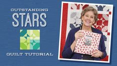 """Make an """"Outstanding Stars"""" Quilt with Jenny Doan of Missouri Star (Video Tutorial) - YouTube Missouri Star Quilt Tutorials, Quilting Tutorials, Quilting Designs, Msqc Tutorials, Bargello Quilts, Star Quilts, Quilt Blocks, Blue Quilts, Scrappy Quilts"""