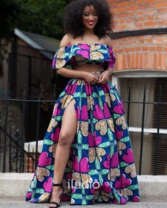 Discover a variety of outfits made from African prints including Ankara. Get inspiration (view pictures of African print styles) to help attend an event. #ad