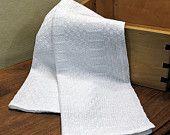 White Kitchen Towel Handwoven Shaker Tea Towel Large