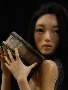 Geisha with Koi Tattoo OOAK Polymer Clay Female OOAK by Mark A Dennis | eBay