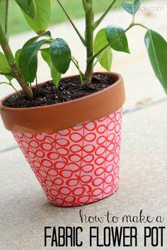 make a fabric flower pot