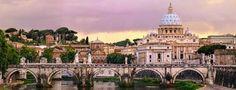 Precioso puzzle panorámico de 1000 piezas con el Castillo de Sant'Angelo de Roma. Medidas: 94 x 36 cm aprox.