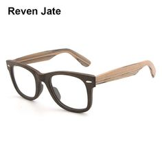 0734c7078a Reven Jate Optical Eyeglasses Frame Prescription Glasses Acetate Wood  Pattern Full Rim Spectacles men and Women Eyewear.