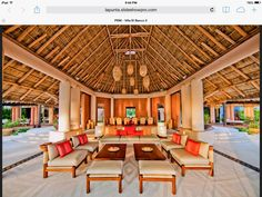 palapa Tropical Backyard, Tropical Houses, Roof Design, House Design, Bungalow On The Beach, Outdoor Pavillion, African House, Bamboo Structure, Bamboo House