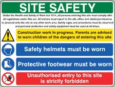 Welcome to The Onsite Safety Company Site Office, Site Sign, Healthy Environment, Working Area, Health And Safety, Need To Know, Workplace, Acting, Home Improvement