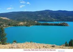Kalamalka Lake: At different times of the year the colour of the lake can range from cyan to indigo, in different spots at the same time. The colour of the water is derived from light scattering, caused by the precipitation of calcite (CaCO3). , Luxury accommodation  www.lakeviewmemories.com