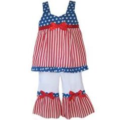652dd3e814c  Overstock - Red and white stripes meet a blue and white starred surplice  top on