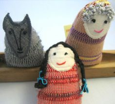red riding hood handwoven dolls by ERGANIweaving on Etsy, $30.00