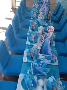 Gorgeous decor at a Frozen girl birthday party! See more party ideas at CatchMyParty.com!
