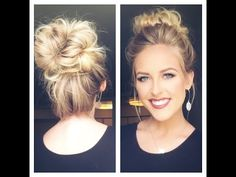 CUTE MESSY BUN | Less than 5 min - YouTube