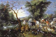 6- Jan Brueghel le Jeune - l'entrée des animaux dans l'arche de Noé.- § J. BREUGHEL le JEUNE:  Il n'y a pas bien longtemps encore que Jean Breughel le Jeune était presque inconnu, c'est à M. Van Lerius que revient l'honneur de lui avoir rendu la place qui lui est due. Il est presque certain que cet artiste fut digne de son père par son caractère et son talent. Il suffit de citer le nom de ses collaborateurs pour en être convaincu.